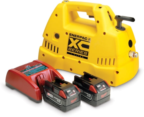 CORDLESS PUMP KIT RENTAL, 1L, 3/2 MAN. VALVE, 115V CHARGER - (ENERPAC XC1201MB)