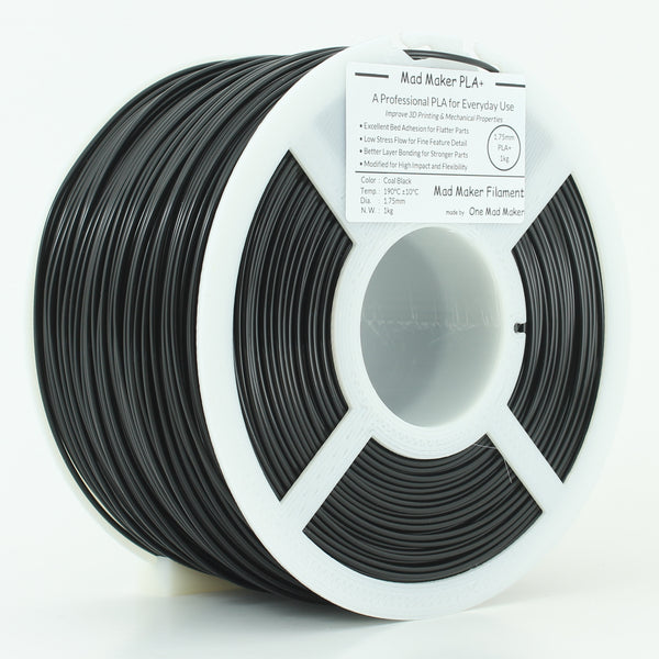 Coal Black Mad Maker PLA+ 1kg 1.75mm