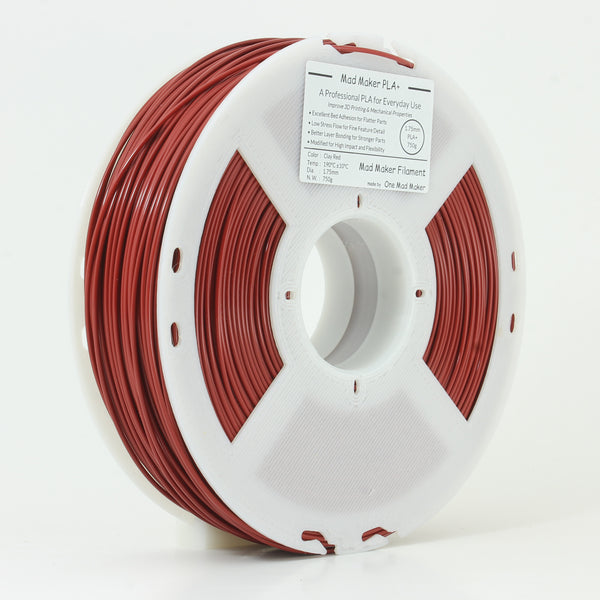 Clay Red Mad Maker PLA+ 1.75mm