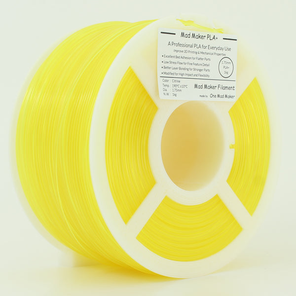 Citrine Mad Maker PLA+ 1kg 1.75mm