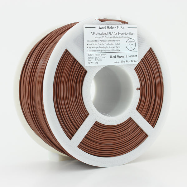 Moose Brown Mad Maker PLA+ 1.75mm