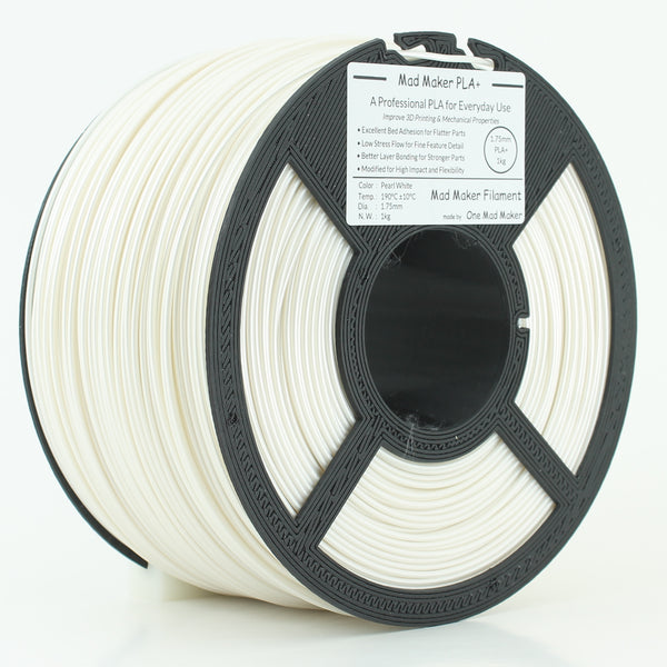 Pearl White Mad Maker PLA+ 1.75mm