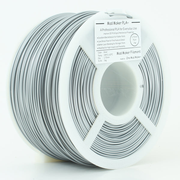 Silver Mad Maker PLA+ 1.75mm