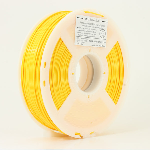Sunshine Yellow Mad Maker PLA+ 1.75mm