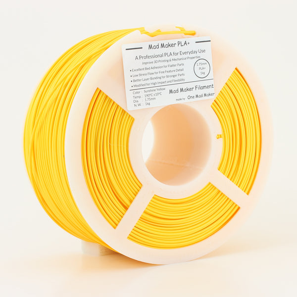 Sunshine Yellow Mad Maker PLA+ 1kg 1.75mm