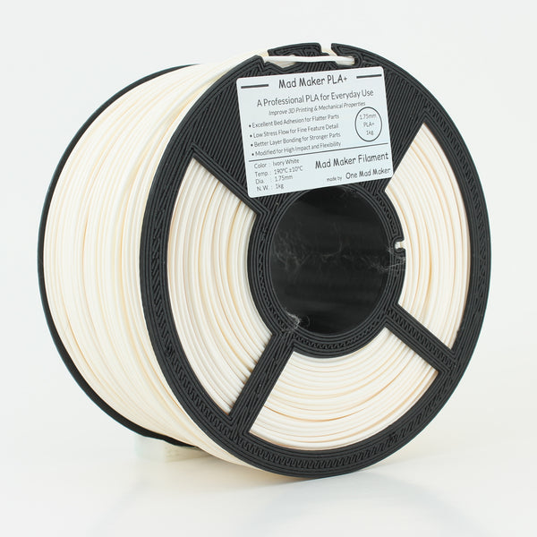 Ivory White Mad Maker PLA+ 1.75mm