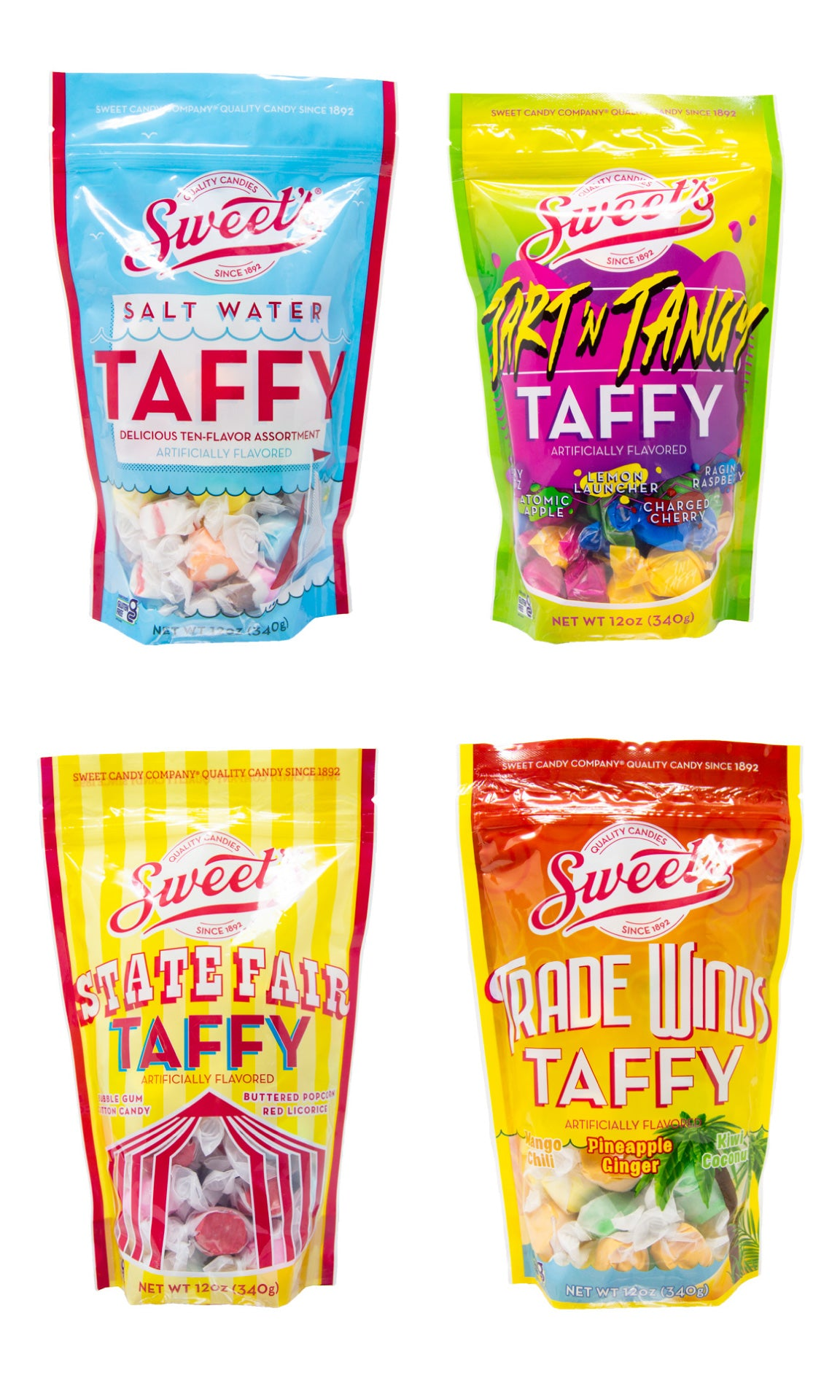 New Sweet's 12oz Taffy Assortments
