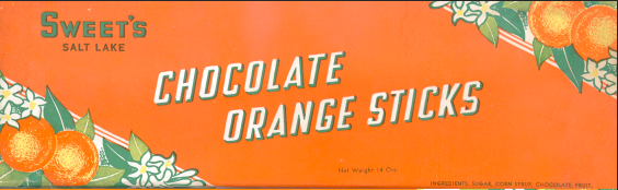 1940 Orange Sticks Packaging