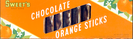 1965 Orange Sticks Packaging