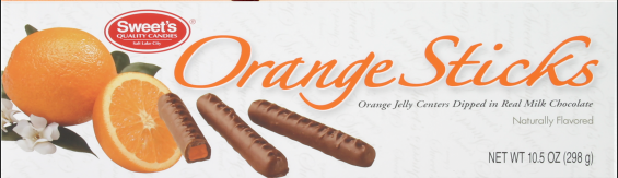 2002 Orange Sticks Packaging