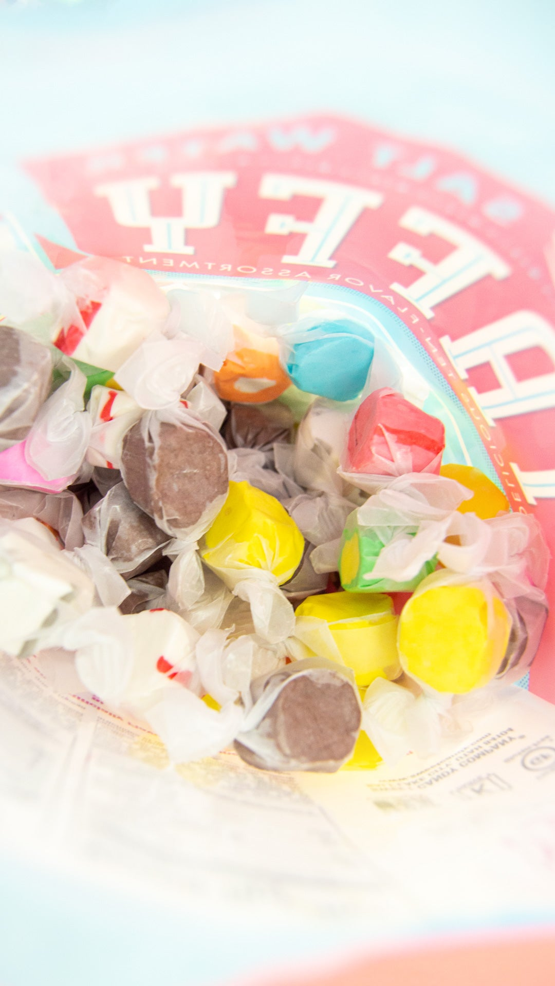 Inside a Taffy Bag - Free Shipping! For Any Order Over $75