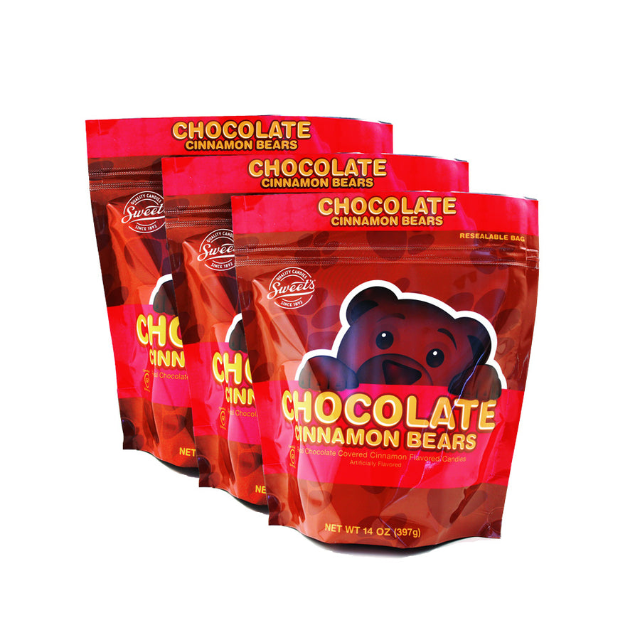 Chocolate Covered Cinnamon Bears, 3 Pack