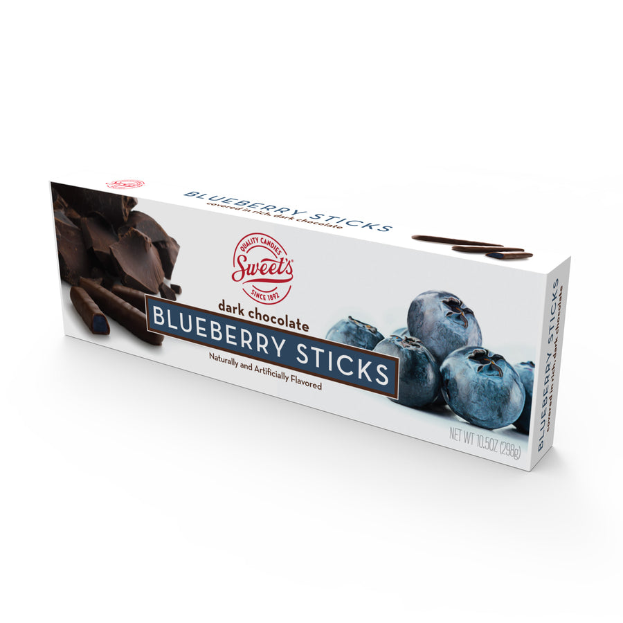 Dark Chocolate Blueberry Sticks, Pack of 12