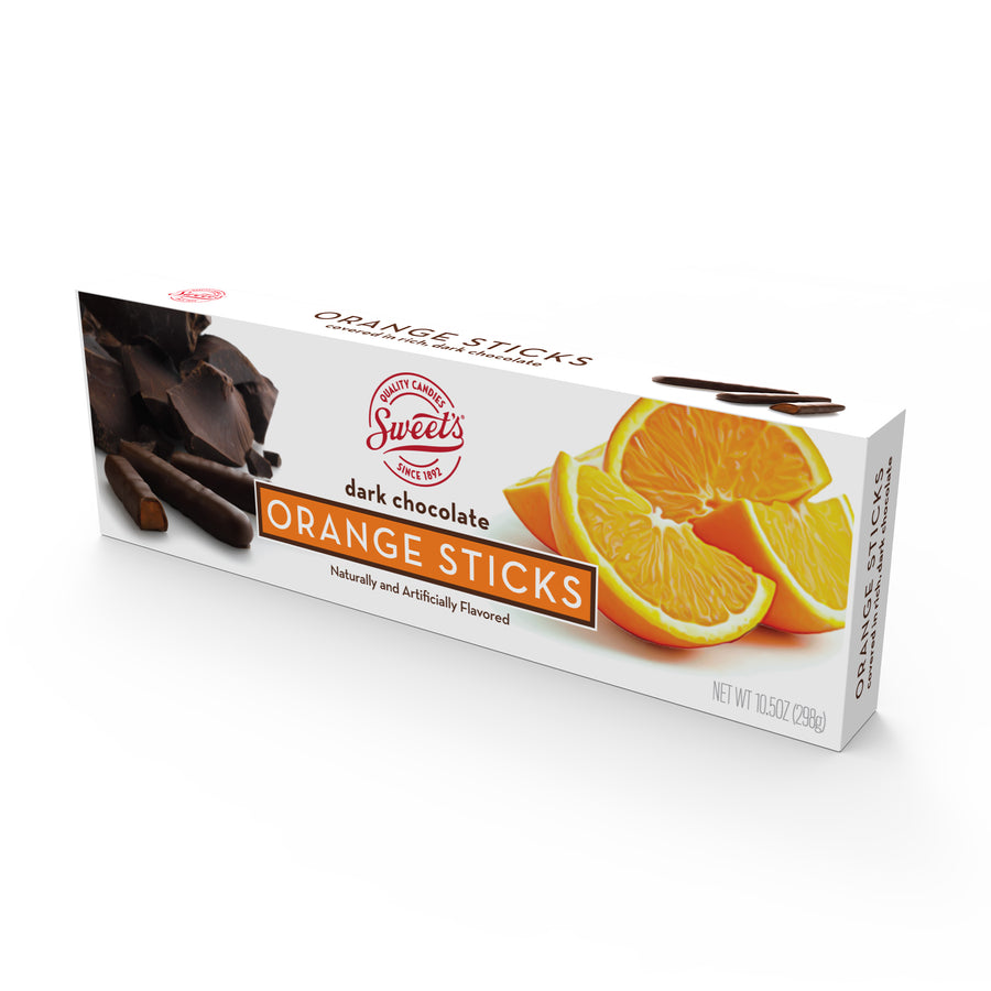 Dark Chocolate Orange Sticks, Pack of 12