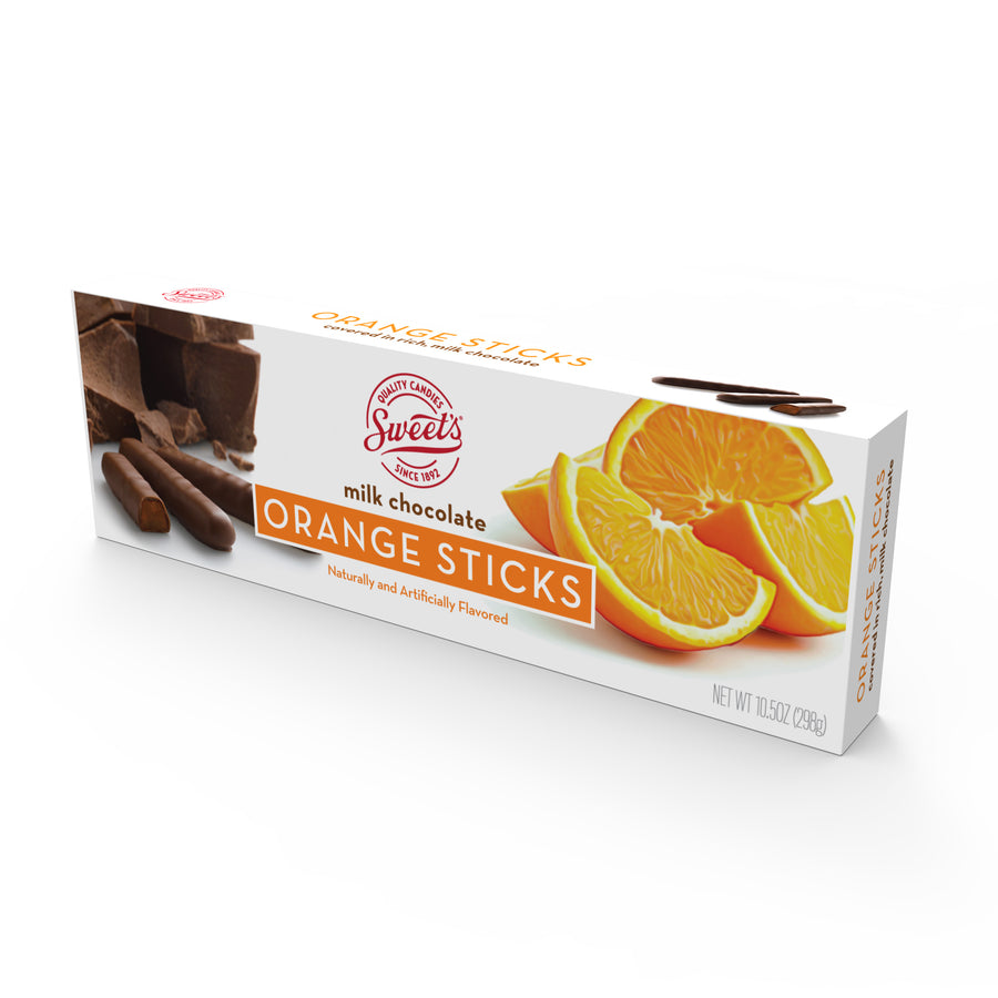 Milk Chocolate Orange Sticks, Pack of 12