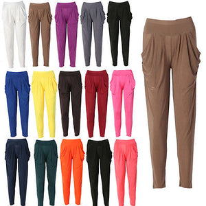 Ladies Women Fashion Casual Harem Baggy Pants Trousers Slacks