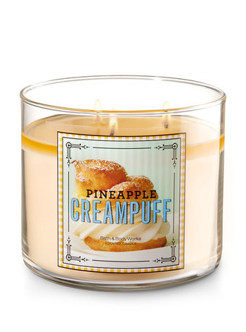 3 Wick Candle - Pineapple Cream Puff