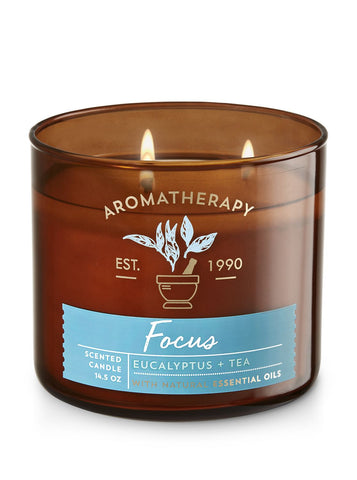 FocusEucalyptus & Tea 3 Wick Candle