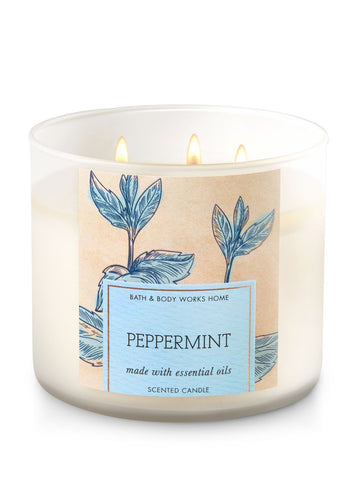 Peppermint 3 Wick Candle