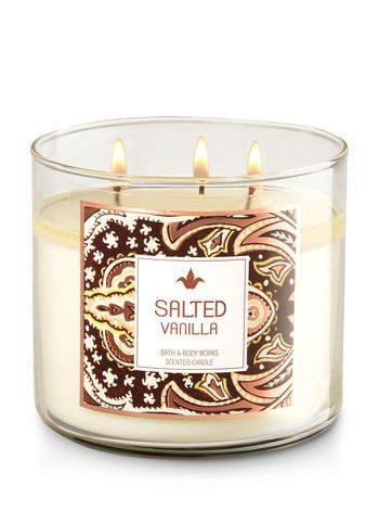 Salted Vanilla 3 Wick Candle