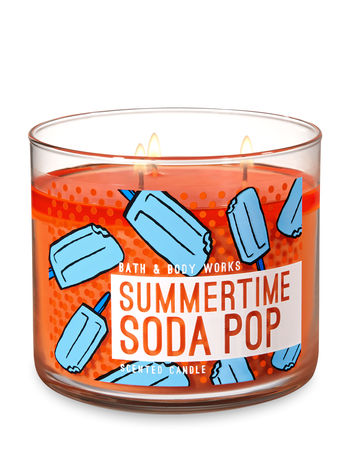 Summertime Soda Pop 3 Wick Candle