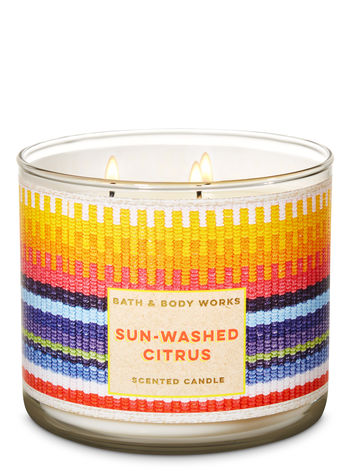 Sun Washed Citrus 3 Wick Candle