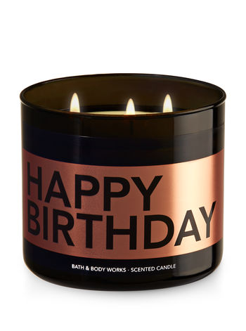 Happy BirthdayButtercream Icing 3 Wick Candle