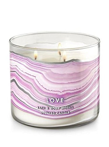 Rose Quartz 3 Wick Candle