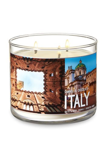 Italy Canoli & Chocolate 3 Wick Candle