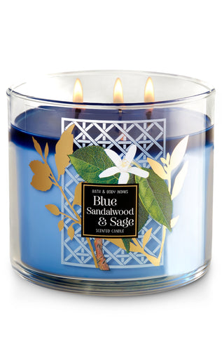 Blue Sandalwood & Sage 3 Wick Candle