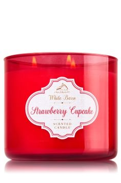 Strawberry Cupcake 3 Wick Candle
