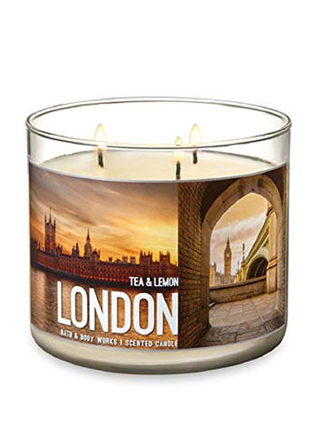 London Tea & Lemon 3 Wick Candle