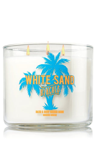 White Sand Beaches 3 Wick Candle