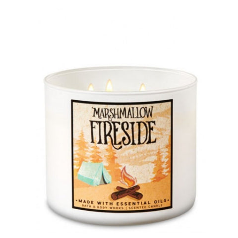 Marshmallow Fireside 3 Wick Candle