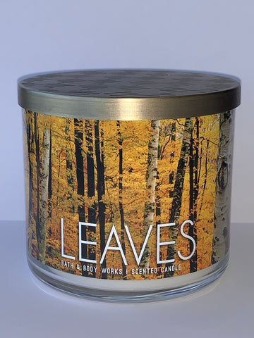 Leaves 3 Wick Candle