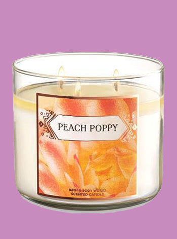Peach Poppy 3 Wick Candle