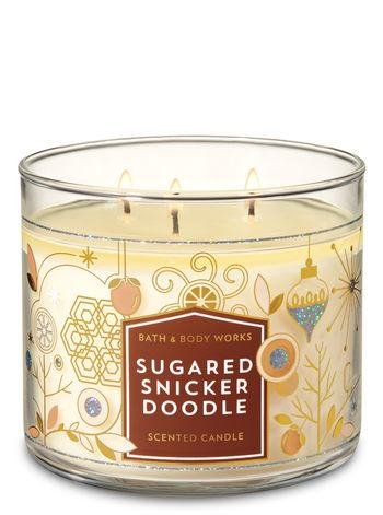 Sugared Snicker Doodle 3 Wick Candle