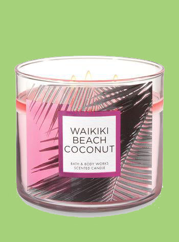 Waikaiki Beach Coconut 3 Wick Candle