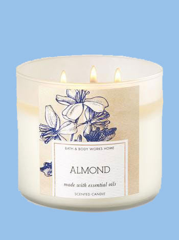 Almond 3 Wick Candle