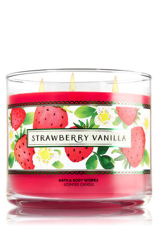 Strawberry Vanilla 3 Wick Candle