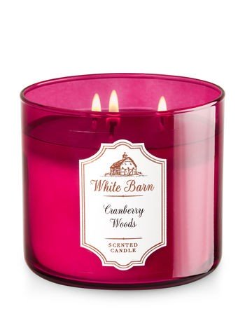 Cranberry Woods 3 Wick Candle
