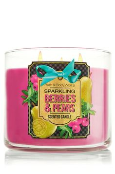 Sparkling Berries & Pears 3 Wick Candle