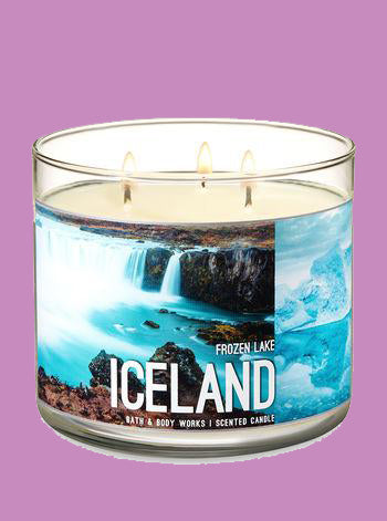 Iceland Frozen Lake 3 Wick Candle