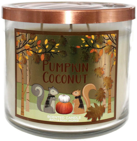 Pumpkin Coconut 3 Wick Candle