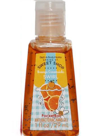 PocketBac Hand Sanitiser Gel - Orange Creamsicle Swirl