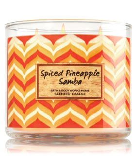Spiced Pineapple Samba 3 Wick Candle
