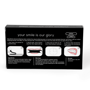 14 x 2 Whitening Strips Charcoal Whitening Strips
