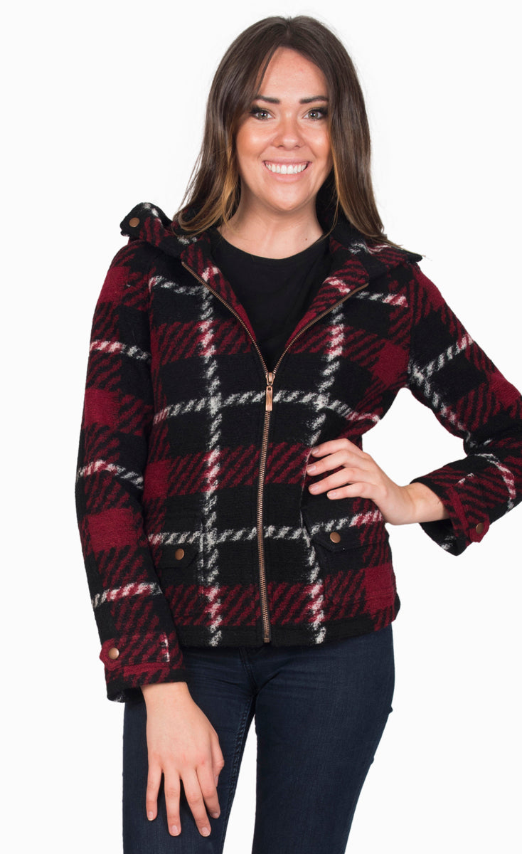 Pumpkin Picking Plaid Jacket
