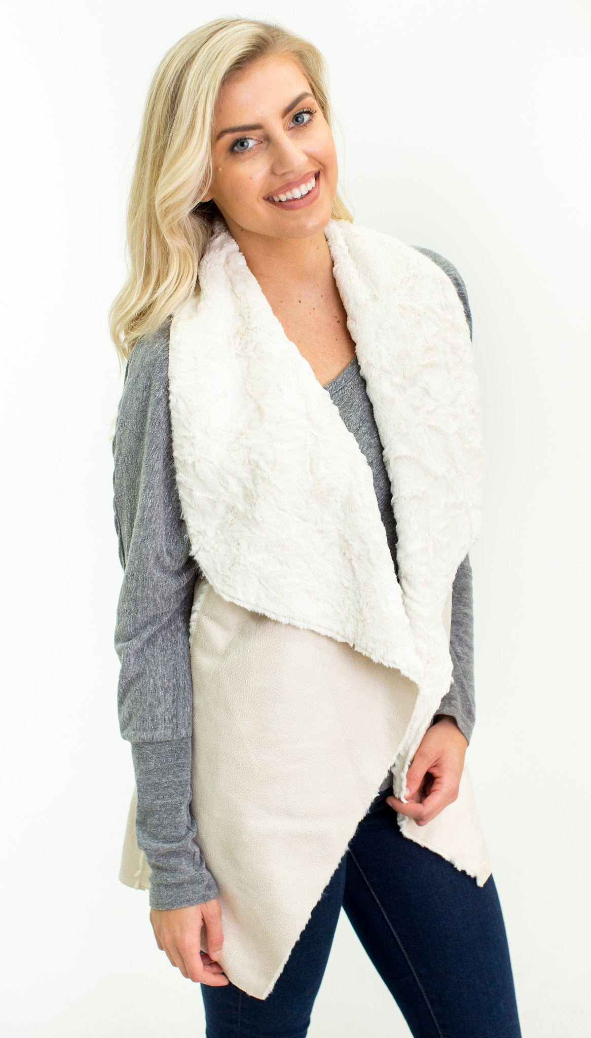 Sugar and Spice Shearling Vest