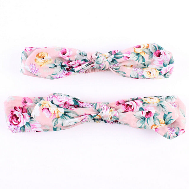 2Pc/Set Mommy and Me Floral Bows - China
